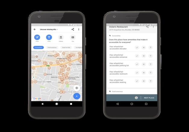 screenshot Google accessibility